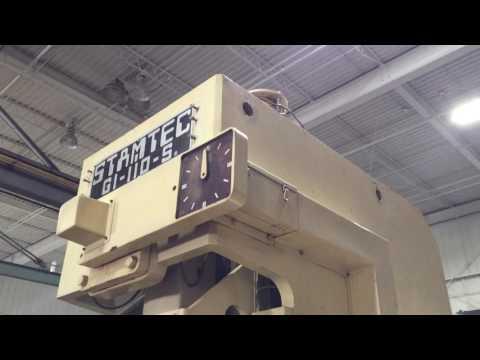 Stamtec Model G1 110 S 110 ton Open Back Single Point Gap Frame OBS Press 1995