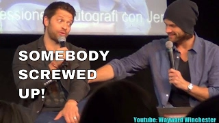 Misha Collins Reacts To Jared Padalecki Spoiling Castiel's Return In S13 . JIBcon 8