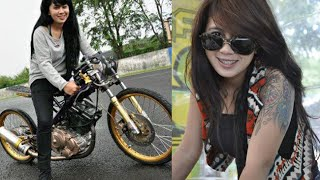 Kumpulan Foto Cantik Indri Barbie : Lady Drag Bike