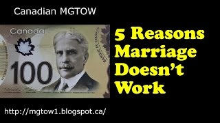 5 reasons marriage does not work