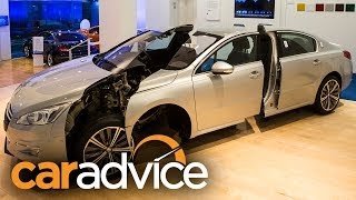 New Car Safety Technology: NRMA Crashed Car Showroom