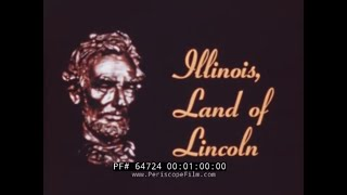 ILLINOIS LAND OF LINCOLN  1947 EDUCATIONAL FILM  CHICAGO  MIDWAY AIRPORT  64724