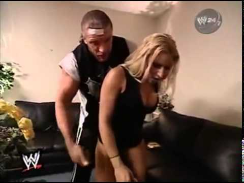 WWF Smackdown Triple H Gets Busted With Trish Stratus Backstage