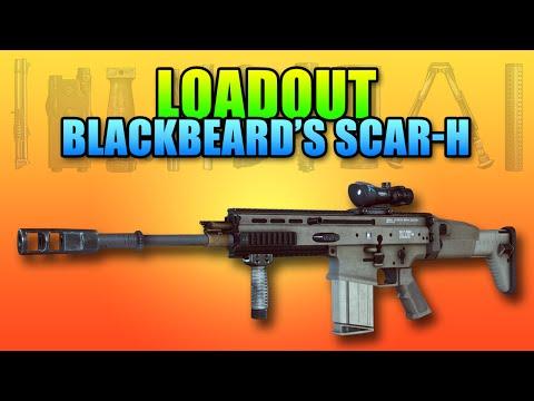 Loadout Blackbeard's Scar-H R6S Style | Battlefield 4 Gameplay