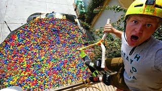 GIANT BALL PIT VS INSANE SCOOTER TRICKS! ft. Funk Bros