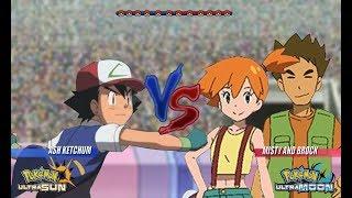 Pokemon Battle USUM: Kanto Ash Vs Misty and Brock (Pokémon Nostalgic)