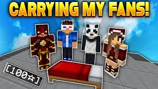 Carrying FANS in Hypixel Bedwars!