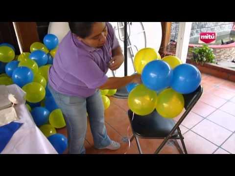ARCO CON GLOBOS USANDO UN TRAMO DE TUBO DE PVC