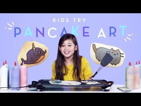 Kids Try Pancake Art Kids Try HiHo Kids