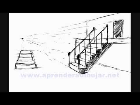 Como dibujar escaleras Bocetos de dibujos de casas y edificios