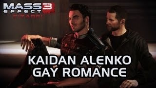 Mass Effect 3 Citadel DLC: Kaidan Gay Romance (All scenes)