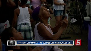 87-year-old Sees Her First, Last Total Solar Eclipse