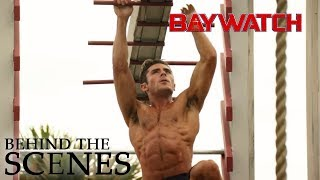 BAYWATCH | Zac and Dwayne on Obsticle Course | Official Behind the Scenes