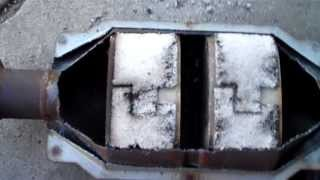 Here's what's in a catalytic Converter.  Here's how they work.