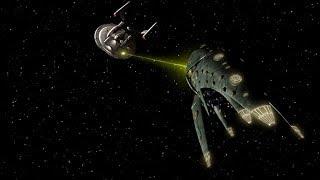 Romulan Drone ship battles Enterprise