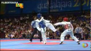 Tae kwon do Panamericanos - Mexico vs Brazil (Damian Villa - Marcio Ferreira) 58 kgrs