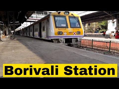 WR Local Train Halt At Borivali | Bombardier EMU & Siemens Livery AC EMU | Borivali Railway Station