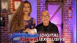 Tyra Banks Reacts To Howie Mandel Reading Her Book - America