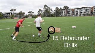 15 REBOUNDER DRILLS FOR FOOTBALL | SOCCER | Joner 1on1 Football Training