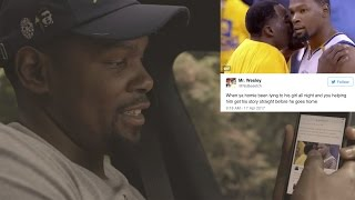 Kevin Durant Reacts to Twitter Meme of Him & Draymond Green