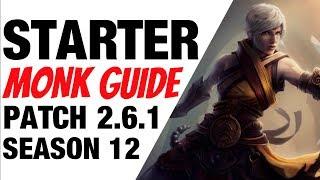 Patch 2.6.1 Monk Starter Build Guide Season 12 Diablo 3