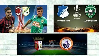 Ac Milan vs Hnk Rijeka + Hoffenheim vs Ludogorets + Sc Braga vs Basaksehir