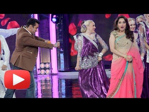 Salman Khan Madhuri Dixit Re- Create Didi Tera Devar Deewana Song - Bigg Boss 7