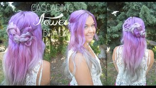 Cascading Flower Braid ✿ Half-up Hairstyle