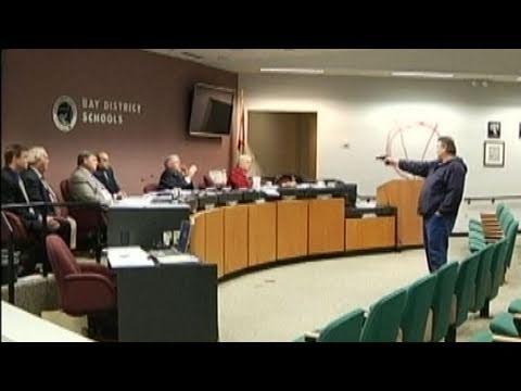 Caught on Tape Gunman Takes School Board Hostage