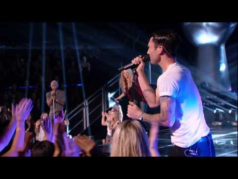 The Voice Coaches Perform! SHAKIRA, USHER, ADAM LEVINE AND BLAKE SHELTON