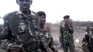 Ogaden.Dhaanto Somali ciidanka Kenya ka tirsan
