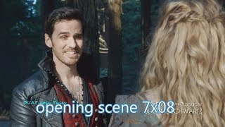 Once Upon A Time 7x08 Opening Scene Hook Meets Daughter Alice in Wonderland Season 7 Episode 8