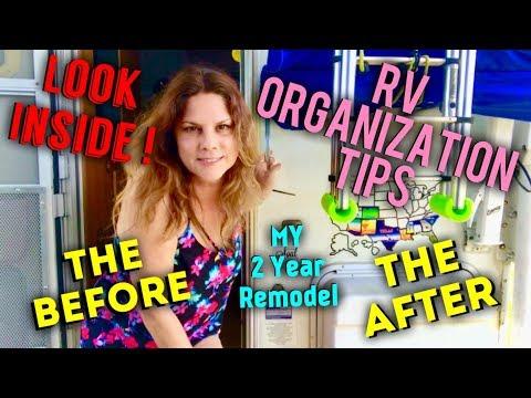 FULL RV REVEAL OF 2 YR REMODEL & ORGANIZATONAL TIPS!!