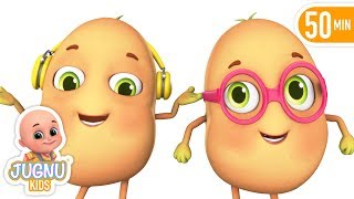 Cute 3D One Potato | Learn English with songs for children | Jugnu Kids