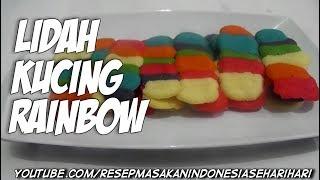 kue kering - resep lidah kucing rainbow