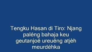 Tengku Hasan di Tiro: Mantong na bansa droëteuh njang tém peulamiët droë bak djawa
