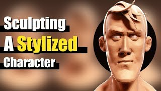Sculpting a Stylized Character Face In Blender - Tutorial