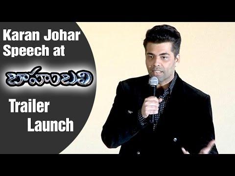 Karan Johar Fan Of Rajamouli  | Baahubali Hindi Trailer Launch | Prabhas | Rana | Anushka | Tamanna