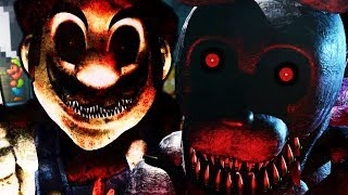 MARIO GETS TURNED INTO A FNAF ANIMATRONIC! ||One Night at Luigi's (Five Nights at Freddys)