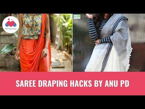 Xxx Mp4 Saree Draping Hacks By Anu PD 3gp Sex