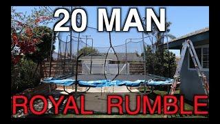 WWE - 20 MAN ROYAL RUMBLE! (Trampoline)