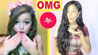 REACTING TO MY KID SUBSCRIBERS MUSCIAL.LY VIDEOS