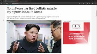 NORTH KOREA LAUNCHES ICBM