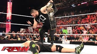 Kevin Owens confronts John Cena: Raw, May 18, 2015