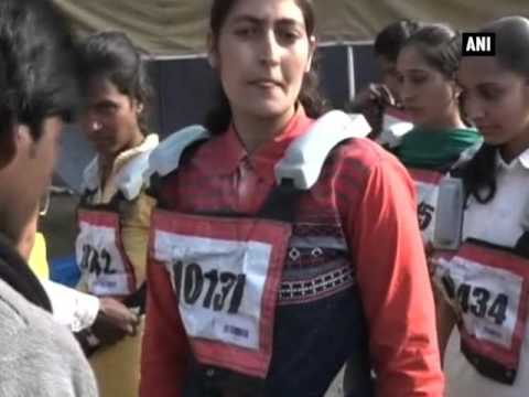 Women take part in Police constable recruitment drive in Jammu and Kashmir