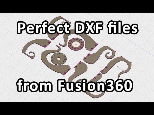 Laser cut octopus lamp: 04 the right way to export dxf files from fusion 360
