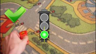 Toy Lightning McQueen and Mater Overview || Learning Traffic Lights Signals for Kids
