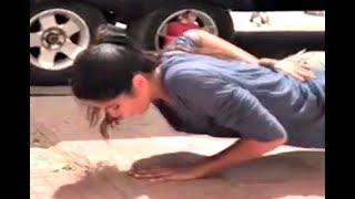 Katrina Kaif One Hand Push-up Video On Road
