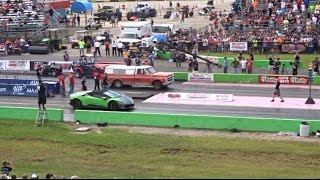 WORLDS GREATEST DRAG RACE - Lamborghini vs FARM TRUCK DRAG RACE ( STREET OUTLAWS )