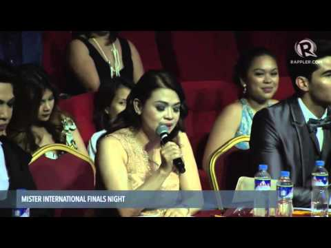 WATCH 2015 Mr. International Top 5 and Q&A portion